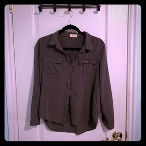 Love Notes Olive Button up shirt
